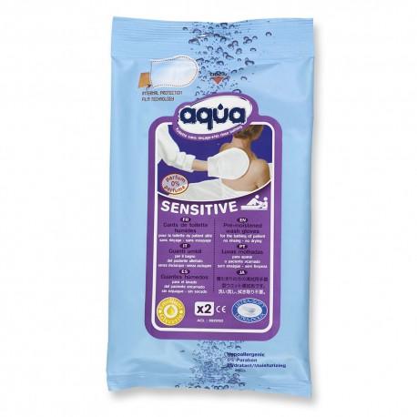 """Higieninė šluostė kūnui valyti """"Aqua® Sensitive"""", 2 vnt. (vienkartinė), (Cleanis, Prancūzija)"""