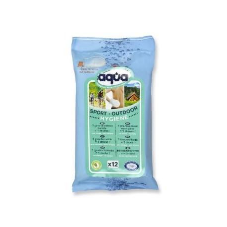 """Higieninė šluostė kūnui valyti """"Aqua® Sport-Outdoor"""", 2 vnt. (vienkartinė), (Cleanis, Prancūzija)"""