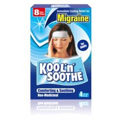 """Pleistras nuo migrenos """"Kool'n'Soothe Migraine"""", 4 vnt., (KOBAYASHI, Japonija)"""