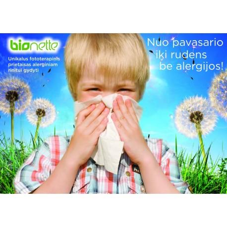 "Prietaisas alerginio rinito, šienligės gydymui ""Bionette"", 1 vnt., (BioLight Medical Devices Ltd.)"