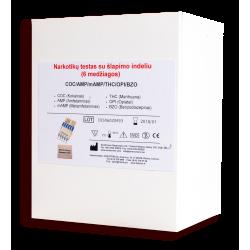 Multitestas 6 narkotinių medžiagų nustatymui šlapime, N1 (SSD, Anglija)