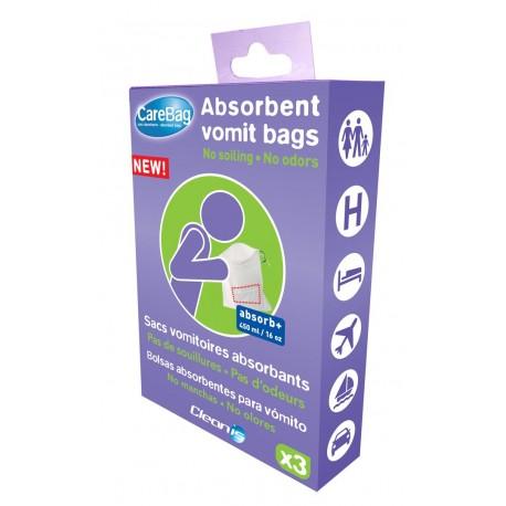 CareBag® higieniniai vėmimo maišeliai, 3 vnt. (vienkartiniai), (Cleanis, Prancūzija)