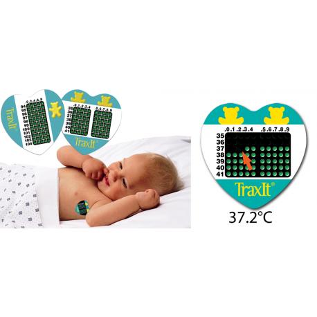 """Vienkartiniai termometrai """"TraxIt"""" (Medical Indicators, JAV)"""