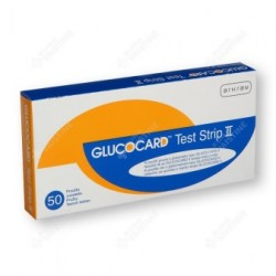 Gliukozės testų juostelės Glucocard Test Strip II N50 (Arkray, Japonija)