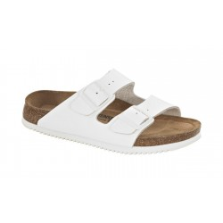 Birkenstock med. batai Arizona SL WB LENA (balti, susiaurinti)