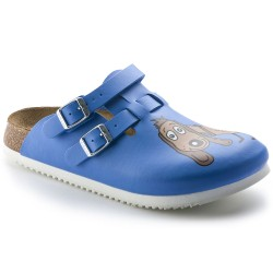 Birkenstock med. šlepetės Kay SL Dog Blue, (mėlynos, susiaurintos)