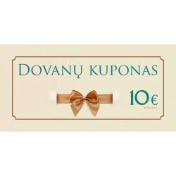 Dovanų kuponas 10 Eur