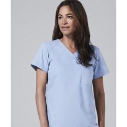 Medicininė mot. pižama - viršus (šviesiai mėlynos sp.)