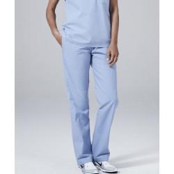 Medicininė mot. pižama - kelnės (šviesiai mėlynos sp.)
