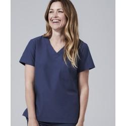 Medicininė mot. pižama - viršus (tamsiai mėlynos sp.)