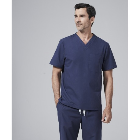 Medicininė vyr. pižama - viršus (tamsiai mėlynos sp.)