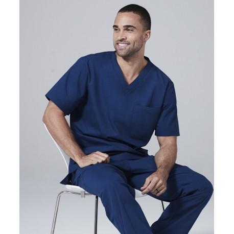 Medicininė vyr. pižama - viršus (mėlynos sp.)