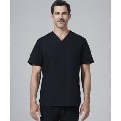Medicininė vyr. pižama - viršus (juodos sp.)