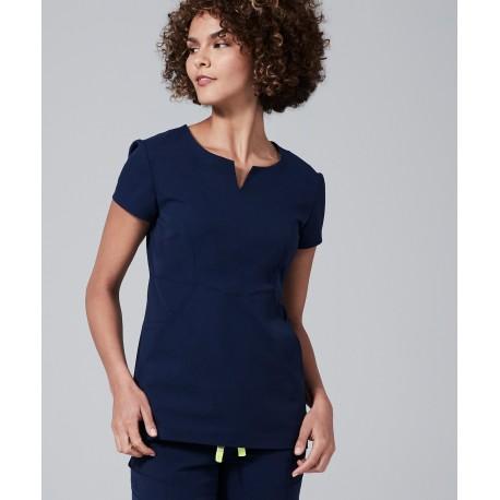"""Medicininė mot. pižama – viršus """"Horizon"""" (tamsiai mėlynos sp.)"""