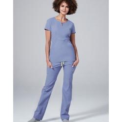 """Medicininė mot. pižama – viršus """"Horizon"""" (šviesiai mėlynos sp.)"""