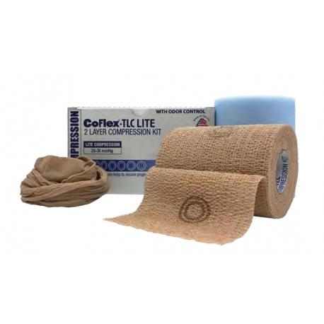 CoFlex TLC® - lengvos komresijos dviejų sluoksnių kompresinis tvarstis