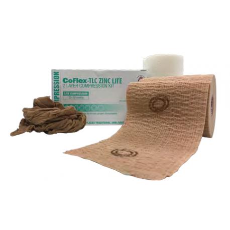 CoFlex TLC LITE su cinku® - lengvos kompresijos 10 cm x 5,5 m dviejų sluoksnių kompresinis tvarstis
