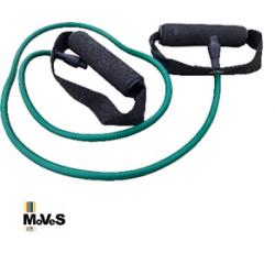 Apvali mankštos juosta su rankenomis – žalia (stipri), 120cm