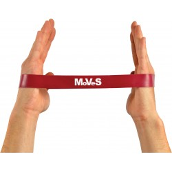 Elastinės juostos kilpa 2,5x30cm vidutinė (raudona) N1