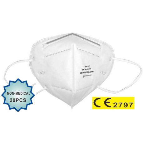 20 vnt. - Respiratorių FFP2 (KN95) - apsauginių veido kaukių