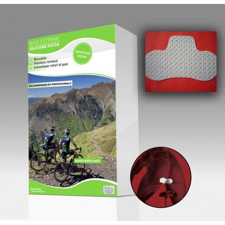 """Silikoninis pleistras ekstrimaliems dviratininkams """"ReSkin BIKE EXTREME Silicon Patch"""", 2 vnt. (Reskin Medical NV, Belgija)"""
